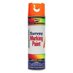 Paint, marking, survey, flor red-orange