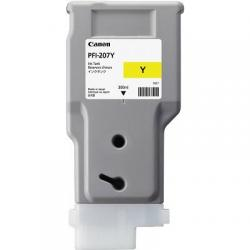 PFI-207Y, ink cartridge, dye yellow, 300ml