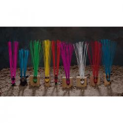 Stake whiskers, yellow, 25/bundle