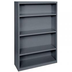 Bookcase, steel, sanduskey, 52' 36'w, dark gray