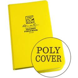 Field book, hardbound, polydura cover, all-weather, yellow, transit
