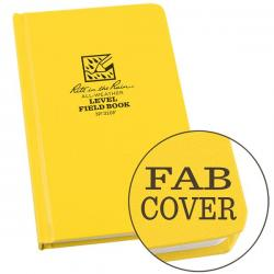 "4 3/4"" x 7 1/2"", bound book-fabrikoid cover, level, all weather"