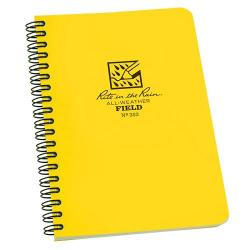 Field book, spiral notebook, polydura cover, wire-o bound, 64 pgs