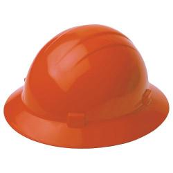 Americana Hard hat, 4-pt ratchet, full brim, non vented, color orange