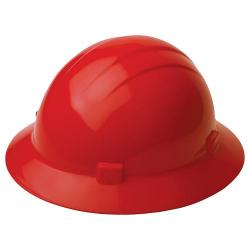Americana Hard hat, 4-pt ratchet, full brim, non vented, color red