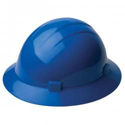 Americana Hard hat, 4-pt ratchet, full brim, non vented, color blue