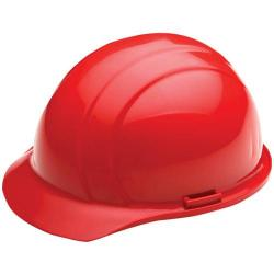 Americana Hard hat, 4-pt ratchet, standard brim, non vented, color red