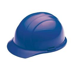 Americana Hard hat, 4-pt ratchet, standard brim, non vented, color blue