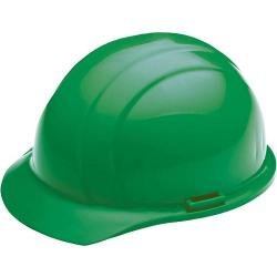 Americana Hard hat, 4-pt ratchet, standard brim, non vented, color green