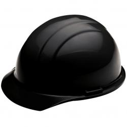 Americana Hard hat, 4-pt ratchet, standard brim, non vented, color black