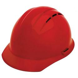 Americana Hard Hat, Standard Brim, Vented, 4pt Ratchet, Red