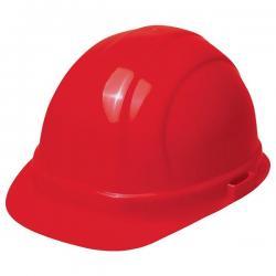 Hard hat, omega II mega, w/rachet adjustment, red