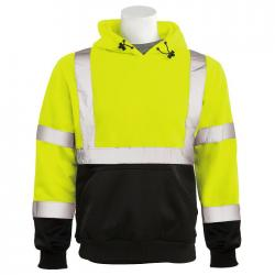 Black bottom pullover sweatshirt, Yellow, Class 3, size XL