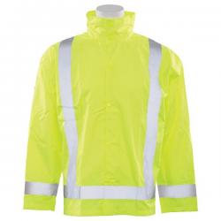 Rain Jacket with Detachable Hood, Class 3, size Medium/Large