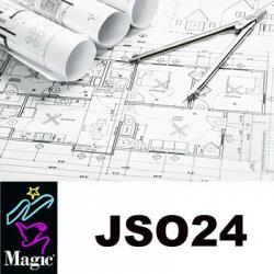 "Inkjet, 34x150', JSO 24, 24# coated matte, 2"" core"