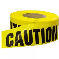 Barricade tape, caution, 3 x 1000'