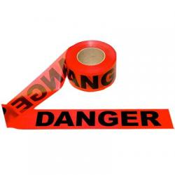 Baricade tape, danger, 3 x 1000'