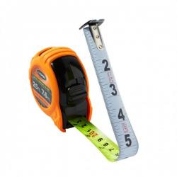 Tape measure, Ultra Bright Blade, 25ft, Nylon-coated steel blade, units ft, in, 1/10, 1/100 & ft, in, 1/8, 1/16