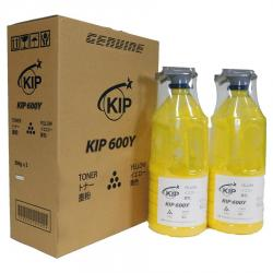 Yellow toner KIP 600 Series, 2 x 500 gram cartridges/case