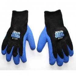 Gloves, frost breaker, form fit, blue/black, size Large