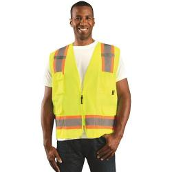 Vest, value solid, two-tone, Class 2, yellow, size medium