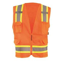 Vest, value mesh, two-tone, Class 2, orange, size 5X