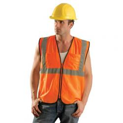 Vest, surveyor, mesh, class 2, orange, size 2/3X