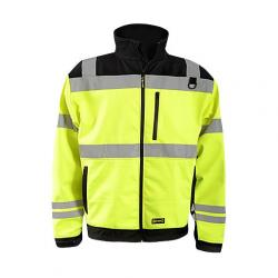 3 Season Soft Shell Jacket, Hi-Vis Yellow, size Large
