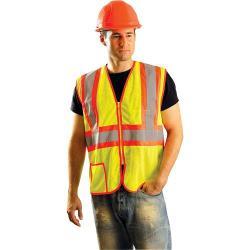 Vest, two tone, w/Zipper, Yellow, Class 2, size 2X
