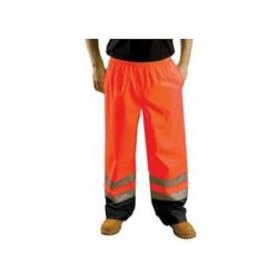 Rain pants, breathable, class E, orange,  size 3X