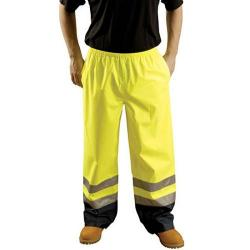 Rain pants, breathable, class E, yellow,  size Medium