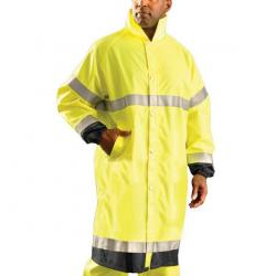 Premium breathable-waterproof jacket, class 3, yellow, size 2X