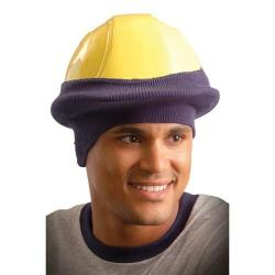 Classic hard hat knit tube liner, navy blue