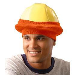 Classic hard hat knit tube liner, orange