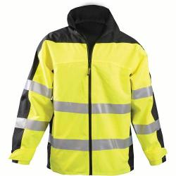 Rain jacket, breathable, premium speed collection, class 3, yellow, size 2X