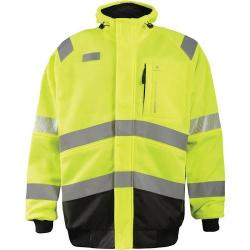 Crossover jacket, quilted flannel lining, hi-vis yellow, Class 3, size 4X