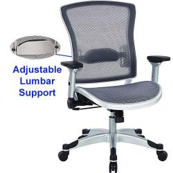 Executive breathable mesh back chair, color gray