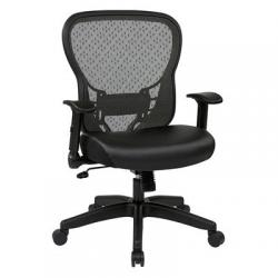 Chair, Deluxe R2 space grid back, black mesh seat