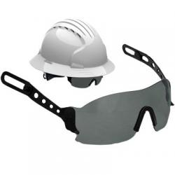 Eyewear for JSP Evolution Deluxe hard hats, evospec, tinted/gray lens