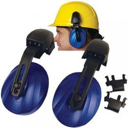 Ear muffs, cap mounted, universal, blue