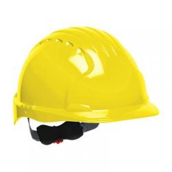 Hard hat, evolution deluxe, non vented, standard brim, class E, yellow