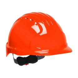 Hard hat, evolution deluxe, non vented, standard brim, class E, orange
