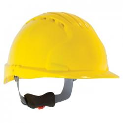 Hard hat, Evolution, Deluxe Vented, standard brim, Class C, Yellow
