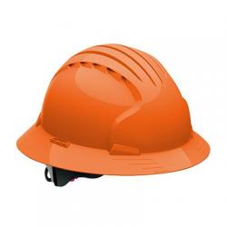 Hard hat, evolution deluxe, non vented, full brim, class E, orange