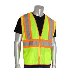 Vest, two tone, mesh, class 2, yellow, size 3X