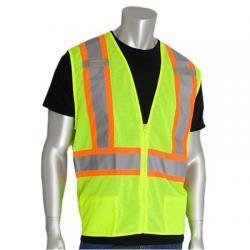 """Vest, class 2, mesh, """"D"""" ring, large"""