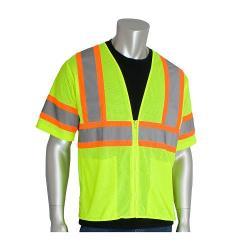Vest, mesh, two tone, class 3, yellow, size 2X