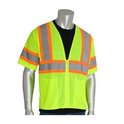 Vest, mesh, two tone, class 3, yellow, size Xlarge