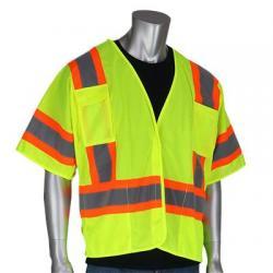 Vest, Breakaway, class 3, hi-vis, lime yellow, large
