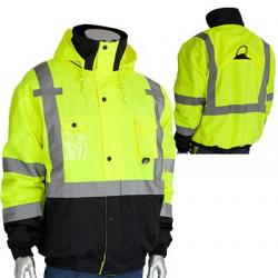 Bomber jacket, rip stop, prem plus, hi-vis, yellow, large